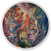 Two Elements Round Beach Towel
