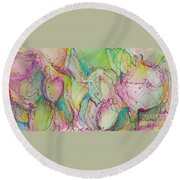 Two Lips Round Beach Towel