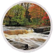 Unnamed Falls Round Beach Towel