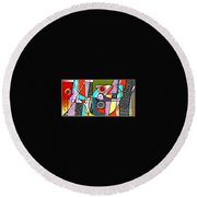 Untitled 901 Round Beach Towel