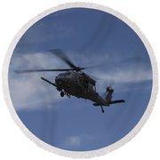U.s. Air Foce Hh-60g Pave Hawk Round Beach Towel
