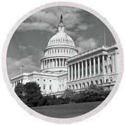 Us Capitol Washington Dc Round Beach Towel