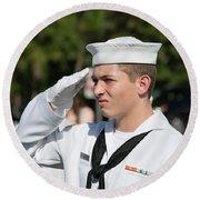 Us Naval Sea Cadet Corps - Gulf Eagle Division, Cape Coral, Florida Round Beach Towel