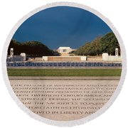U.s. World War II Memorial Round Beach Towel