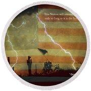 Usa Patriotic Operation Geronimo-e Kia Round Beach Towel