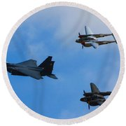 Usaf Heritage Flight Round Beach Towel