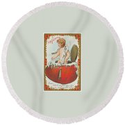 Valentine Design Six Round Beach Towel
