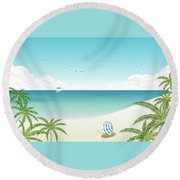 Vector Round Beach Towel