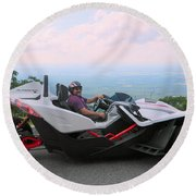 Vehicles Series Round Beach Towel