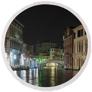 Romantic Venice  Round Beach Towel