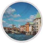 Venice Panorama Round Beach Towel