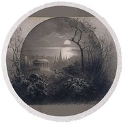 View From Greenwood Cemetery Round Beach Towel