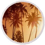 View Of Tahiti Round Beach Towel