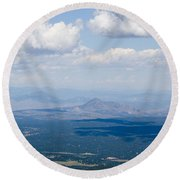 Views From The Pikes Peak Highway Round Beach Towel
