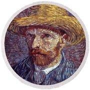 Vincent Van Gogh Round Beach Towel