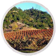 Vineyard 3 Round Beach Towel