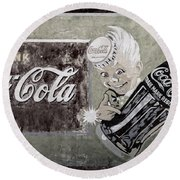Vintage 1916 Hand Painted Coca Cola Sign Round Beach Towel