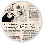 Washing Delicate Blouses Vintage Soap Ad  Round Beach Towel