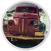 Vintage Studebaker Truck Round Beach Towel