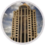 Wachovia Tower Roanoke Virginia Round Beach Towel