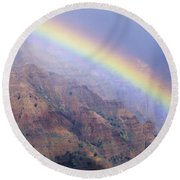 Waimea Canyon Rainbow Round Beach Towel