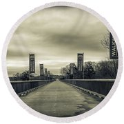 Walkway Over The Hudson Round Beach Towel