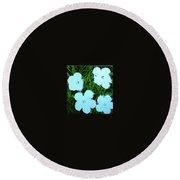 Warhol - Flowers 3 Andy Warhol Round Beach Towel