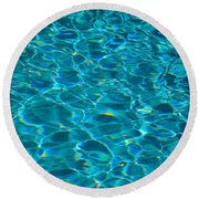 Water Reflections Round Beach Towel