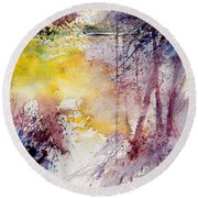 Watercolor 040908 Round Beach Towel