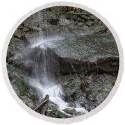 Waterfall Stream Round Beach Towel