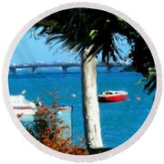Watford Bridge From Cambridge Beaches Round Beach Towel