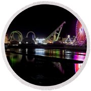 Wildwood New Jersey Round Beach Towel