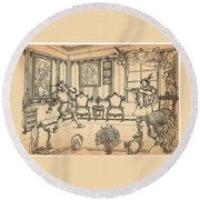 William Tell And Leopold I Round Beach Towel