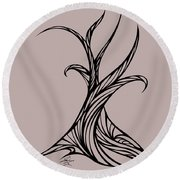 Willow Curve Round Beach Towel