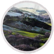 Winter In North Wales Round Beach Towel