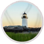 Winter Island Lighthouse, Salem Ma Round Beach Towel