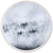 Winter Dawning Round Beach Towel