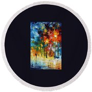Winter Mood Round Beach Towel