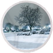 Winter Round Beach Towel by Svetlana Sewell