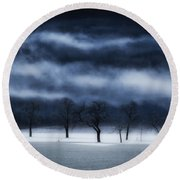 Winter's Passion Round Beach Towel