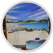 Wip- Orient Beach Round Beach Towel