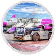Wizz Air Airbus A321 Round Beach Towel