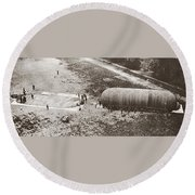 World War I: Balloon Round Beach Towel