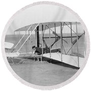 Wright Brothers Glider Round Beach Towel