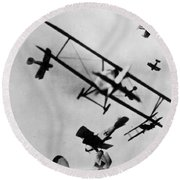Wwi: Dogfight Round Beach Towel