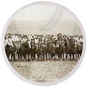 Wyoming: Cowboys, C1883 Round Beach Towel