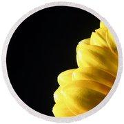 Yellow Gerbera Flower Round Beach Towel