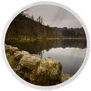 Yew Tree Tarn Round Beach Towel