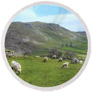 Yorkshire Dales - England Round Beach Towel