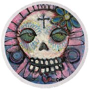 You Are Always In My Heart Round Beach Towel